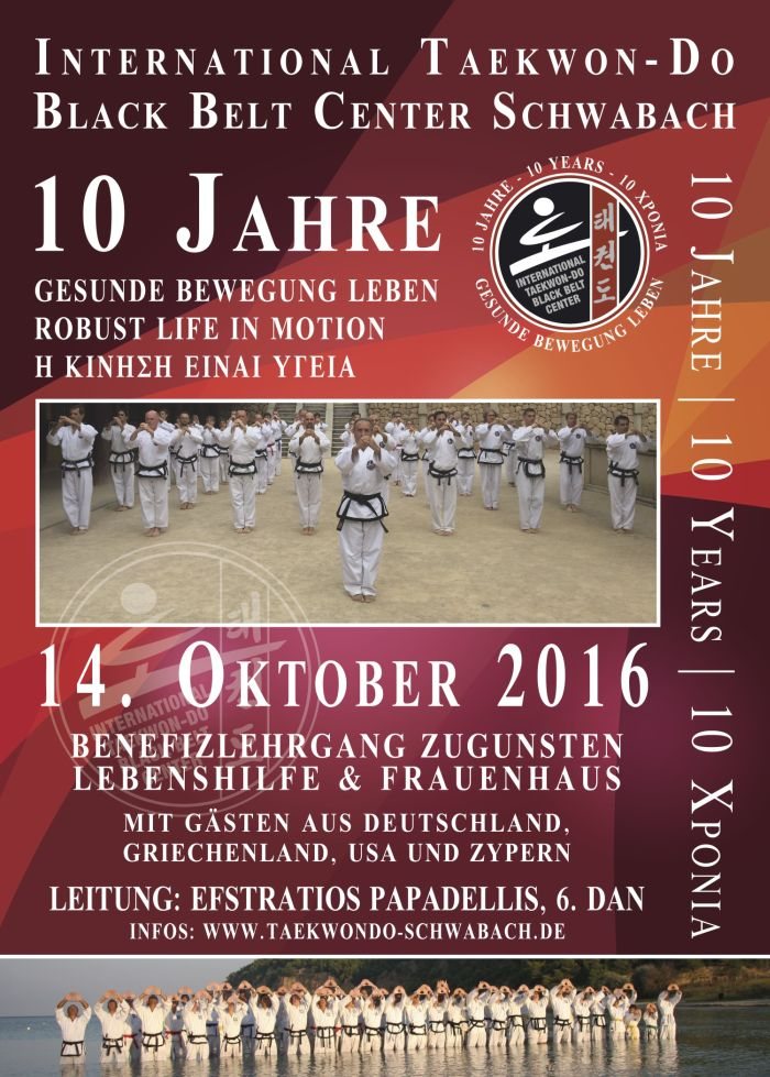 10 Jahre International Taekwon-Do Black Belt Center Schwabach